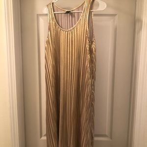 Sexy Gold pleated dress H&M